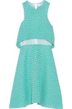 Prabal Gurung Silk-organza and cloqué dress NET-A-PORTER.COM