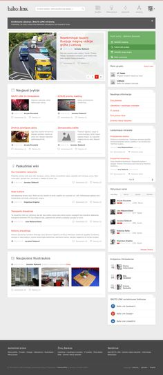 Balto Link Social Collaboration Intranet Design by Vaidas Barauskas, via Behance