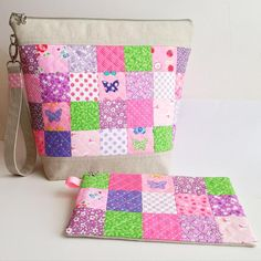Essex linen and quilted patchwork bags