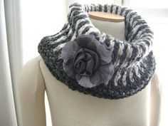 Granite and Marble Cowl #crochet pattern for sale from Sheila Zachariae