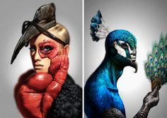 Human / Animal series : Antoine Helbert illustrations