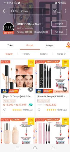 Best Online Stores, Online Shopping Stores, Online Shop Baju, Aesthetic Shop, Korea Makeup, Beauty Tips For Glowing Skin, Shops, Casual Hijab Outfit, Makeup Store