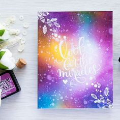 Simon Says Stamp | Galaxy Ink Blended Background - Look For The Miracles!