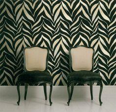 Zebra wallpaper!  Love it! #wallpaper #zebraprint