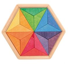 Grimm& Small Complementary Color Star - Little Wooden Cr Green Gifts, Grimm's Toys, Baby Toys, Wooden Wagon, Wooden Stars, Natural Toys, Learning Toys, Wooden Puzzles, Simple Shapes