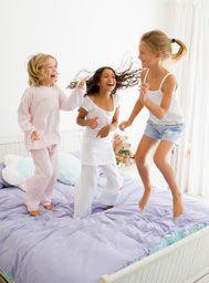 PJ Night Tips: Slumber Party Activities, Sleepover Recipe Ideas, and Kid's Movies from FamilyEducation.com #pjnight