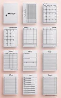 Daily Planner for Filofax, kikki. Bullet Journal School, Bullet Journal Tracker, Bullet Journal Notebook, Bullet Journal Inspo, Daily Journal, Planner 2018, To Do Planner, Planner Pages, Printable Planner