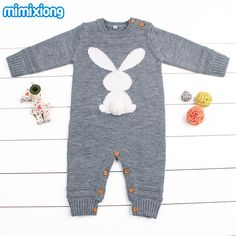 Rompers Efficient New Spring Autumn Baby Rompers Cute Cartoon Rabbit Infant Girl Boy Jumpers Kids Baby Outfits Clothes Neither Too Hard Nor Too Soft
