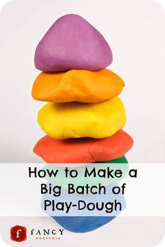 How to make a big batch of play-dough
