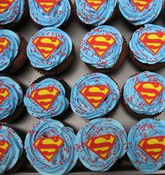 superman cupcakes pinterest   Superman cupcakes @Christopher Keri Kuiper per my inquiry!