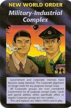 Illuminati Card Game -Military-Industrial Complex