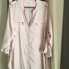 Calvin Klein pink blouse Calvin Klein pink blouse Calvin Klein Tops Blouses