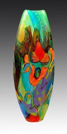 Glass Art Inspirations by Noel Hart Broken Glass Art, Sea Glass Art, Stained Glass Art, Glass Vase, Shattered Glass, Glass Paperweights, Fused Glass, L'art Du Vitrail, Cristal Art