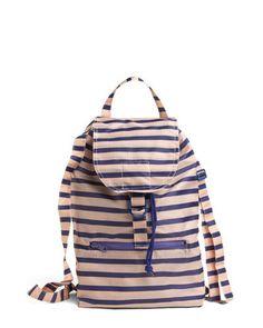 striped backpack