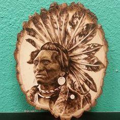 Native American Wood Burning by letitburnnn on Etsy