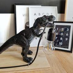 Criativo e ótimo DIY: Zelf een kinderlamp maken - Homefreak. Dinosaur Bedroom, Dinosaur Room Decor, Dinosaur Toys, Kids Decor, Home Decor, Boy Room, Diy For Kids, Kids Bedroom, Diy And Crafts