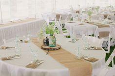 Burlap Table runner: Wedding Table