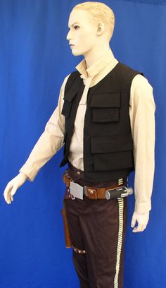 Star Wars Han Solo A New Hope  or Empire Strikes Back or Return of the Jedi  VEST Costume Prop. $525.00, via Etsy.