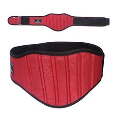"""""""Power Weight Lifting Belt Gym Back Support Fitness 8"""""""" Wide Neoprene With Mesh Red (M)"""" #femaleweightlifting"""