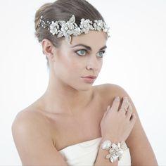 Catherine bridal headdress by Leigh-Anne McCague