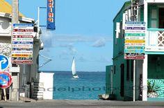 ST Martin Street Signs & sailboat 8x10 print / by jmandelphoto,