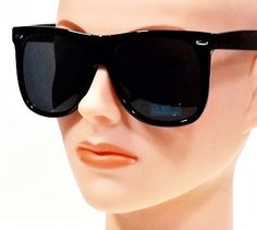 51e761d0cc Extra Large Vintage Men or Women Square Classic Thick Frame Sunglasses  Retro Sunglasses