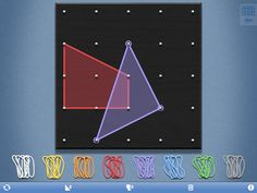 Geoboard- Amazing FREE app. Great way to connect abstract with concrete. A virtual geoboard, my kids love this app!