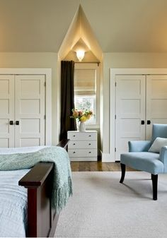 """4 1/2"""" side casing, 5 1/2"""" head casing and 7 1/4"""" baseboard all 3/4"""" thick. The paint is #232 Winter Wheat from Benjamin Moore in a satin im..."""