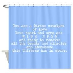 You Are A Catalyst Of Love Shower Curtain> EMPOWER SHOWER > Spiritmedicine111