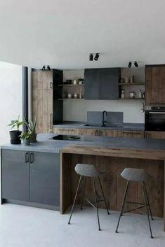 eksempler på luksus køkken design til at inspirere dig - Jack West Industrial Kitchen Design, Luxury Kitchen Design, Kitchen Room Design, Contemporary Kitchen Design, Home Decor Kitchen, Interior Design Kitchen, Kitchen Furniture, Home Kitchens, Kitchen Colors