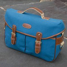 Dark Blue Canvas & Artificial Leather DSLR Camera Bag