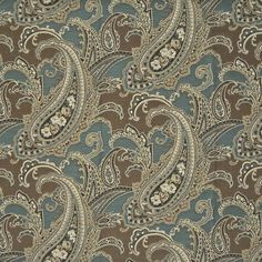 Lowest prices and free shipping on Kasmir products. Over 100,000 fabric patterns. Always 1st Quality. Item KM-DELANCEY-PAISLEY-BLUESTONE. Swatches available.