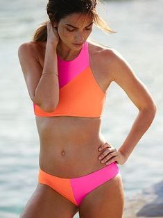 MYLEENE KLASS NEON ORANGE BELTED BIKINI Set UK Size 18 Size 20 NEW