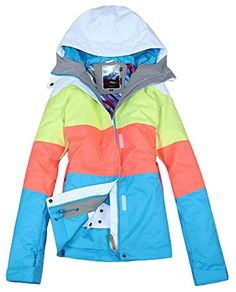 e98ad9206d APTRO Women s High Windproof Technology Colorfull Printed Ski Jacket Style  7  Size XS APTRO http