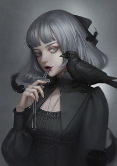 Anime gothic uploaded by Otakas on We Heart It Gothic Anime, Gothic Art, Dark Gothic, Gothic Lolita, Art Anime Fille, Anime Art Girl, Manga Girl, Anime Girls, Dark Anime