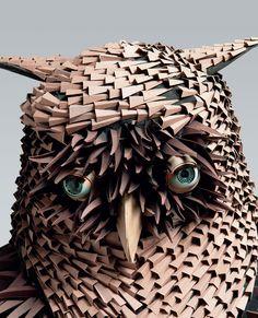 #papercraft #papersculpture:  Irving Harper: Works in Paper sculpture paper books animals