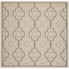 Safavieh Courtyard Digitas Beige Indoor/Outdoor Area Rug Rug Size: Square 7'10""