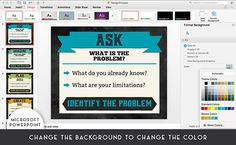 Classroom Printable Posters, Engineering Design Process, STEM (Ask, Imagine, Plan, Create, Improve) Google Drive File, Printable Classroom Posters, Engineering Design Process, Microsoft Powerpoint, Color Change, Physics, Meant To Be, Printables, Digital