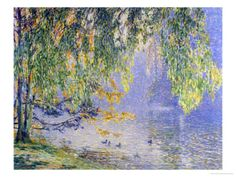 Summer Reflections Giclee Print by Fernand Lantoine at Art.com