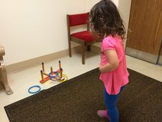 Ring toss : waiting for our hearing/vision tests :)