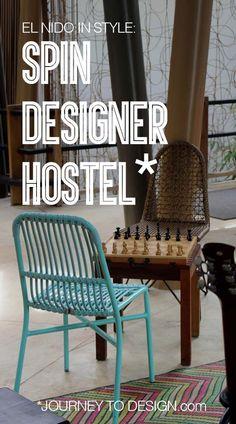 * staying in the funkiest hostel in El Nido