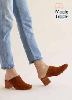 Handmade in a factory owned and operated by Nisolo in Peru. The Paloma is sturdy yet sophisticated, comfortable yet elegant, and the perfect companion for when you're on the go all day long. Mules Shoes, Heeled Mules, Ethical Shoes, Narrow Shoes, Natural Leather, Soft Leather, Kinds Of Shoes, Leather Material, Black Handbags