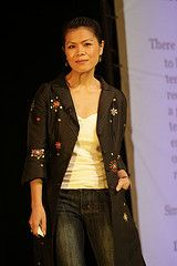 After the Khmer Rouge killed both her parents, Theary Seng and her surviving family trekked across the border for Thailand (November 1979) and emigrated to the U.S. one year later. She wrote the book Daughter of the Killing Fields, (London 2005). Fierce, highly intelligent, courageous, and beautiful, Theary Seng has dedicated her life to finding and forwarding peace and justice for her people. She is one of my sheros. Her website: ThearySeng.com #shero #author #hero #peace #activist