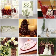 evergreen wedding ideas   Winter Wedding Ideas / Cranberry, evergreen and ivory winter wedding ...