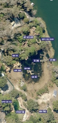 Disney's (now abandoned)  River Country from the Air - http://www.themeparktourist.com/features/20140127/15989/images-aerial-view-abandoned-disneys-river-country-water-park