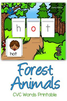 We are currently reviewing cvc words and these forest animals cvc words printable really helped to make the review a fun one.