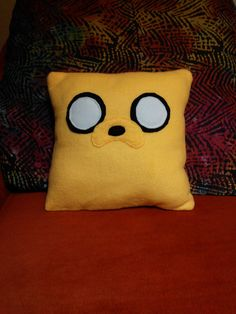 Jake the Dog- Adventure Time Pillow on Etsy, $20.00
