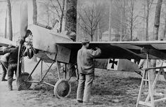 Captured Fokker E - 1916