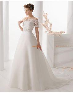 Délka dvorní Rukáv Empírové Svatební šaty 2014