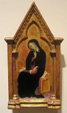 Virgin of the Annunciation 1388   BARTOLO DI FREDI (Siena, 1330 circa – Siena, 26 gennaio 1410)   #TuscanyAgriturismoGiratola